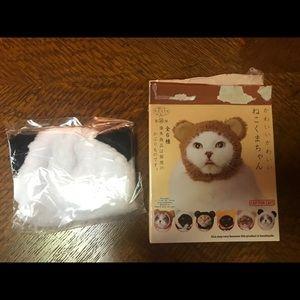 Panda hat for cats, collectible surprise cap 🐼